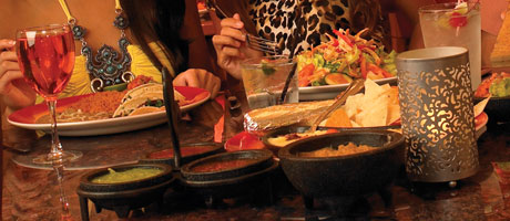 Table of mexican fare from Cabo Catina
