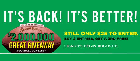 It's back! It's better! $2 million Great Giveaway