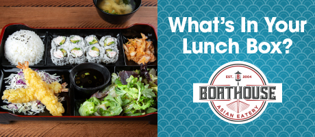 What's in your lunchbox? Lunch bento box at Boathouse