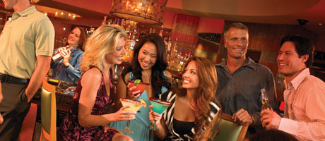 Singles enjoying drinks inside Station Casinos Cabo Cantina
