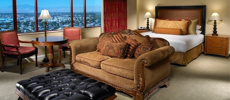 Palace Station King hotel suite - simply the best in Las Vegas hotel rooms