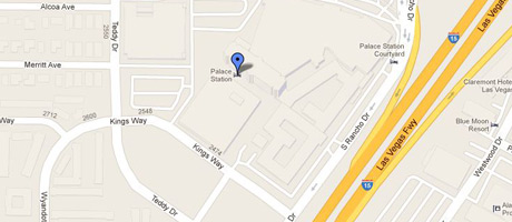 Google map to Palace Station Hotel & Casino